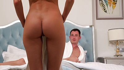 Skinny beauty loves the feeling of cock in her peach