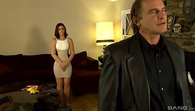 Quickie fucking between an older guy added to delicious Jodie Taylor