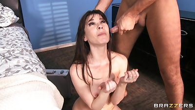 Smooth coitus with aggravation fucking ends with a facial for Dana DeArmond