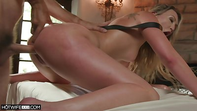 Sweet blonde screams in brutal scenes be advisable for anal doggy style