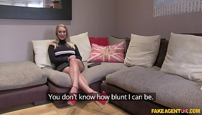 British model Victoria Summers opens their way legs by way of a job interview