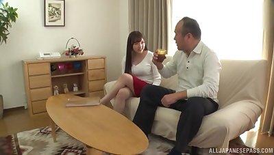 Wild fucking at quarters regarding large boobs Japanese girl Tsubakiori Satomi